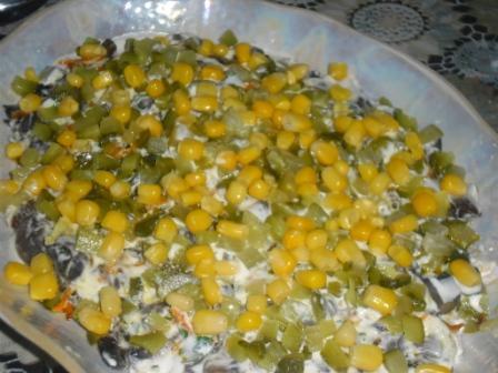 салат из жареных шампиньонов рецепт простой рецепт