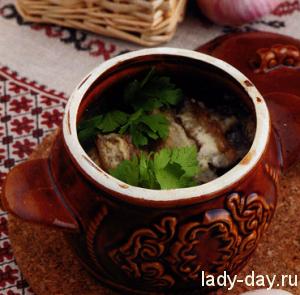 lady-day-Баклажаны с грибами в горшочке