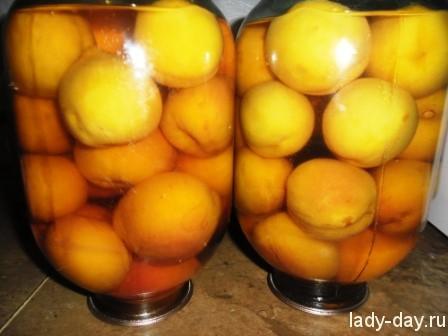 персики на зиму в сиропе