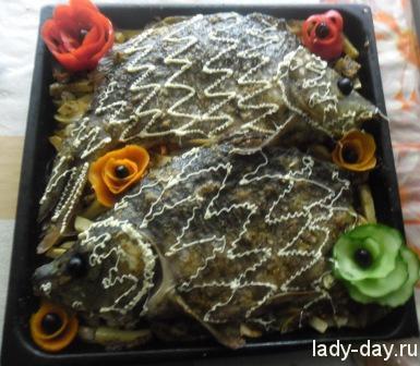 lady-day-Карп с овощами в духовке