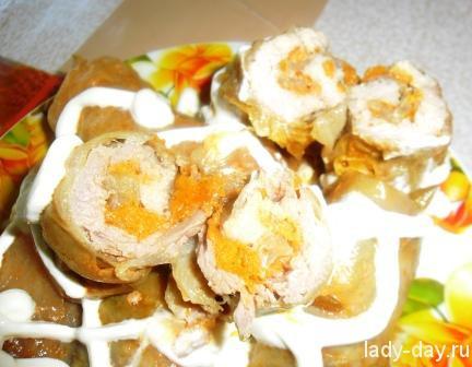 Грибы курица картошка в духовке рецепт с фото пошагово