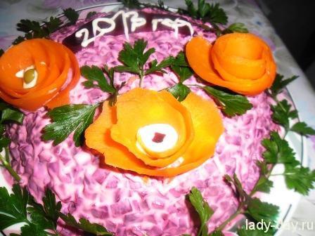 lady-day-Сельдь под шубой на Новый год