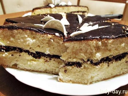 Торт с шоколадом рецепт с фото