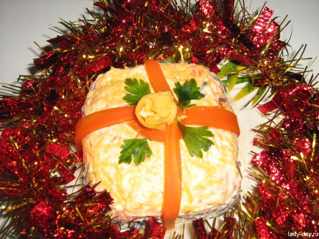 lady-day-Салат Новогодний подарок