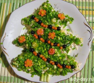 lady-day-Новогодний салат Елочка