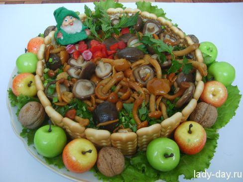 """Грибной салат """"Лесной туесок"""""""