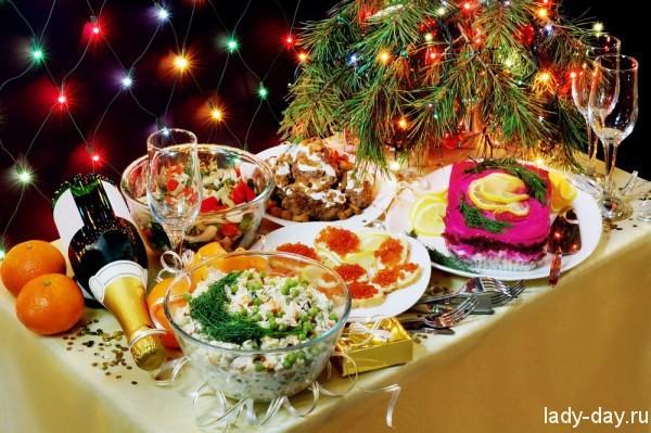 новый год блюда:
