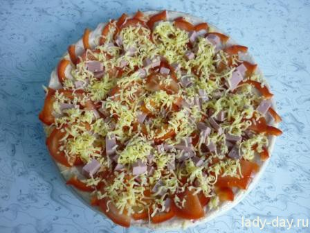 Пицца на скорую руку