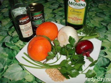 Салат из фенхеля с апельсином
