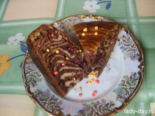 Пирог «Зебра»