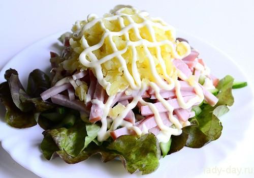 салаты рецепты с фото простые и вкусные с огурцами