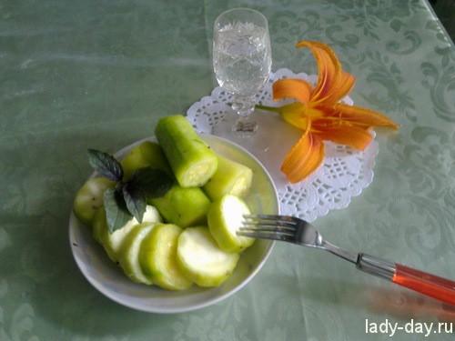 Рецепт соления кабачков