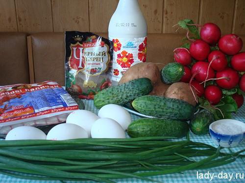 Рецепт окрошки на квасе пошагово 156