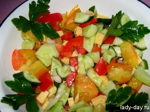 Вкусный летний салат