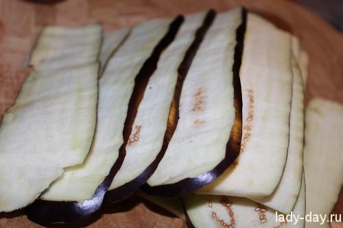 Рулетики из баклажанов с сыром