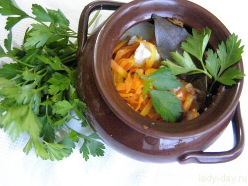 суп с мясом в горшочке рецепт с фото