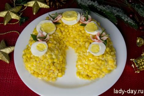 Новогодний салат Подкова