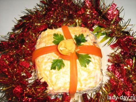 Салат «Новогодний подарок»