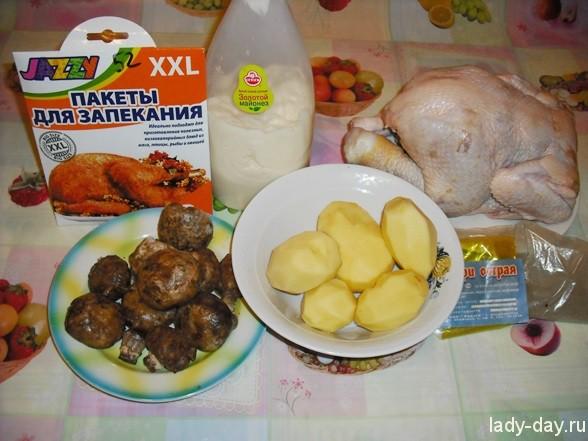 Курица фаршированная