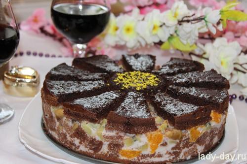 Торт ромашка