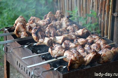 Шашлык из куриных бедрышек
