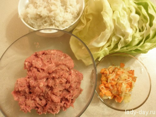 Голубцы с мясом и рисом