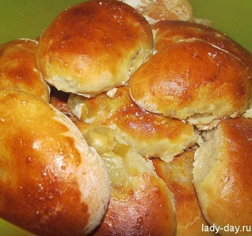 Пирожки в духовке сладкие пошаговый рецепт с фото