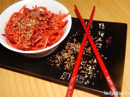 Морковь и свекла по корейски