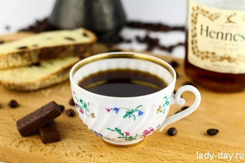 Кофе с коньяком: рецепт