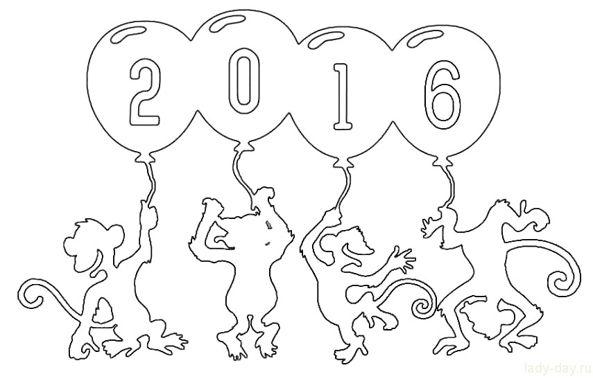 Шаблон обезьяна символ 2016 года своими руками