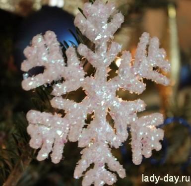снежинка с блестками