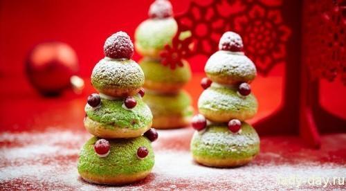 Десерт Новогодние профитроли
