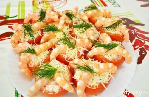 фаршированные помидоры с креветками