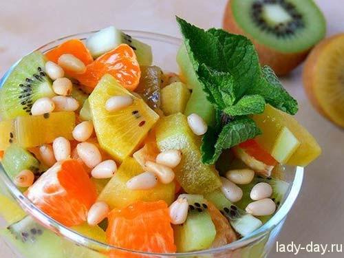 рецепты фруктовых салатов с бананами