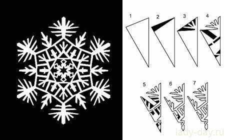 красивая-бумажная-снежинка