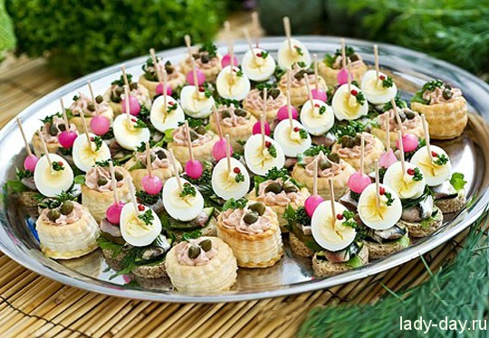 закуски канапе на шпажках рецепты с фото