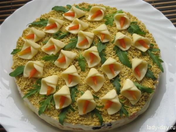 рецепты салатов с фото на день рождения с фото