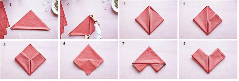 Как красиво сделать салфетки на стол
