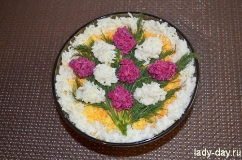 Салат «Букет сирени» рецепт с фото пошагово