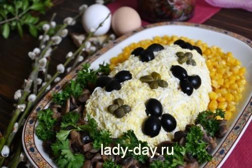 """Салат """"Пасхальное яйцо"""" - фото"""