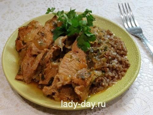 гречка с мясом в муьтиварке