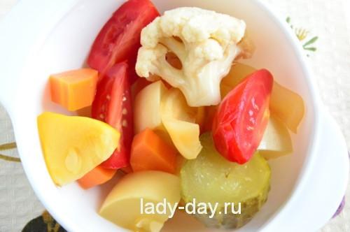 рецепты салатов простые ассорти на зиму