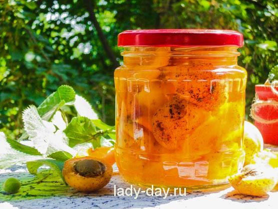 абрикосы на зиму в банке