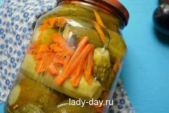 Маринованные огурцы с кабачками на зиму рецепт