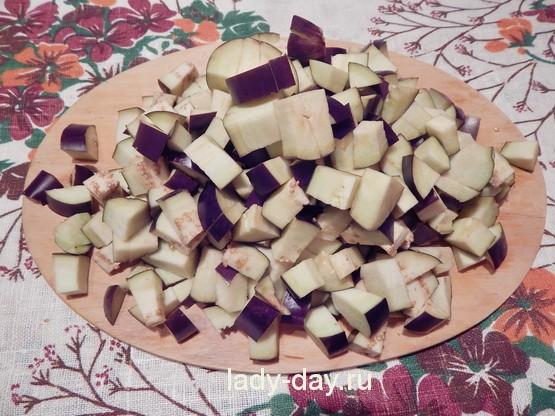 рецепт салата на зиму баклажаны с фасолью
