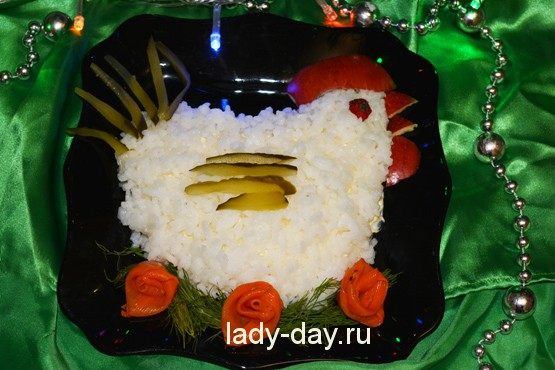 салат петушок рецепт с фото новые