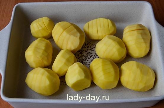 картошка гармошкой в духовке рецепт с фото