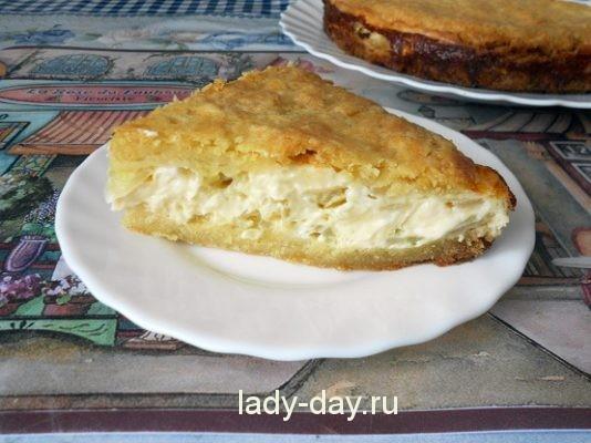 пирог с плавленным сыром и луком рецепт