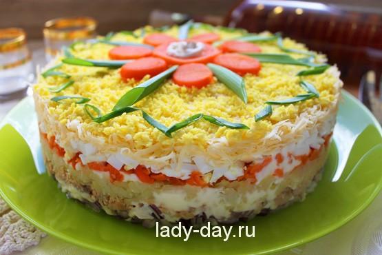"Салат ""Мимоза"" классический рецепт"