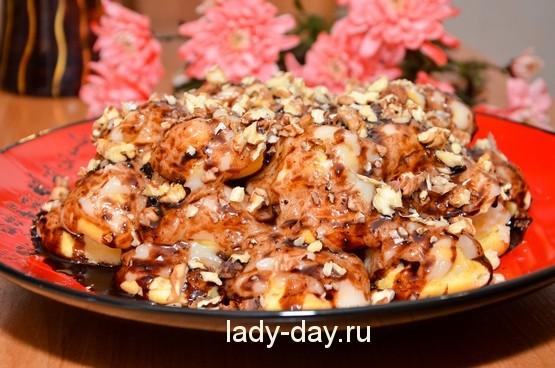 торт из эклеров рецепт с фото